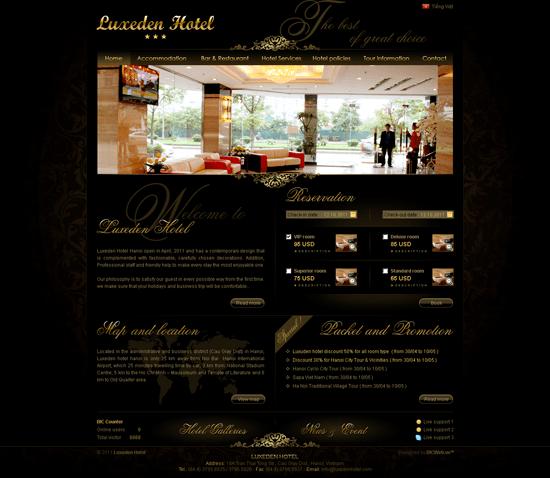 Thiết kế website khách sạn Luxeden - bicweb.vn